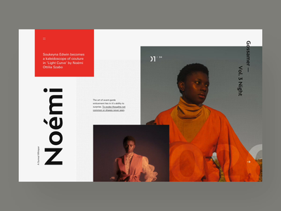 Neómi // transition to slideshow webpage splashpage animation webdesign website web ui