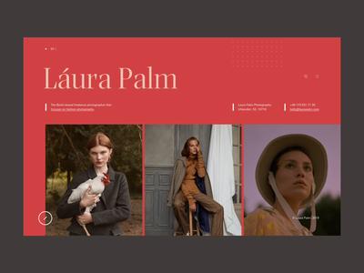 Laura Palm photography editorial animation webpage webdesign website web ui