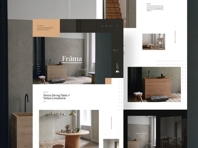 Frama onlinestore storefront furniture landing webpage webdesign website web ui