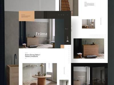 Frama onlinestore storefront furniture landing webpage webdesign website web ui