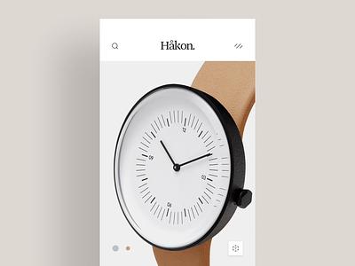 Håkon modern animation app watches ui