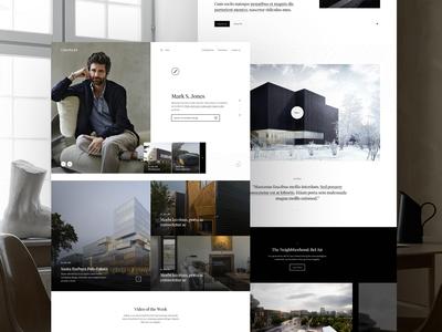Realtor's Profile realtor splashpage webpage webdesign website web ui