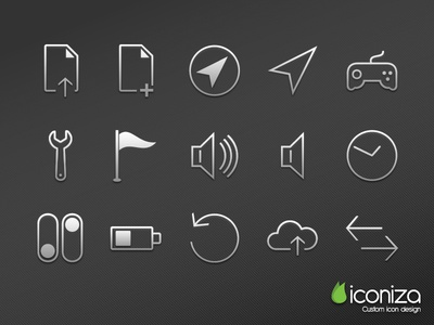 002 Thin And Clean Icon Set