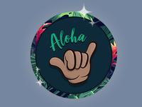 Aloha Shaka Button