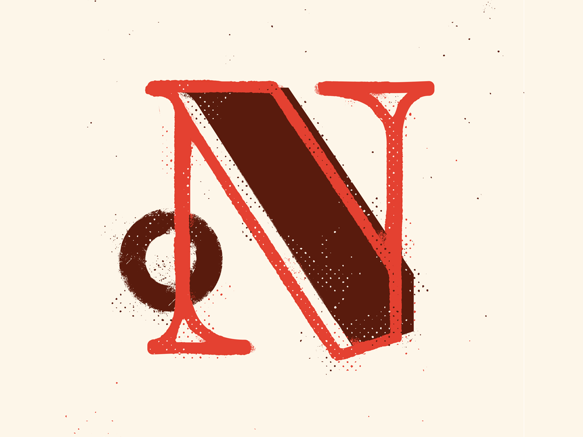 N calligraphy 36days texture illustration drop cap 36daysoftype typography type lettering