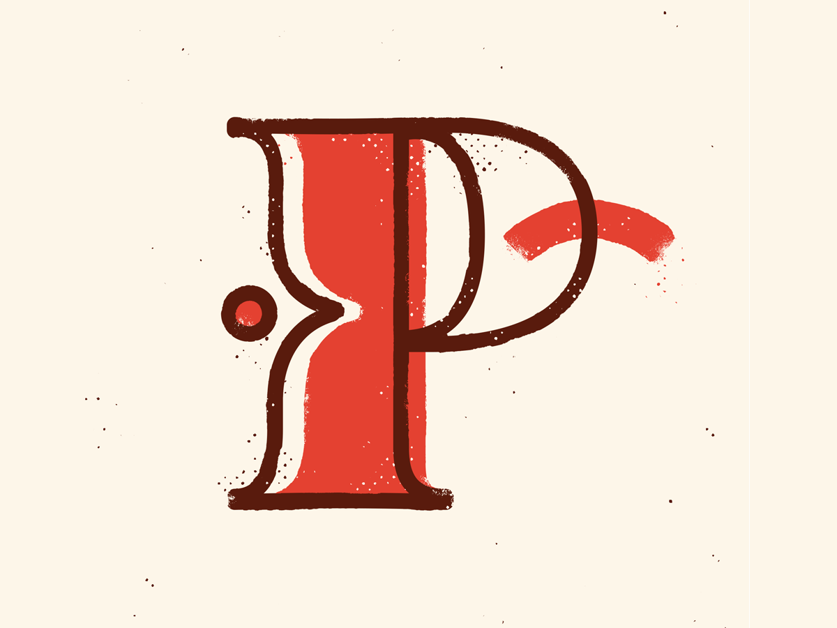 P 36 calligraphy 36days texture drop cap 36daysoftype illustration typography type lettering