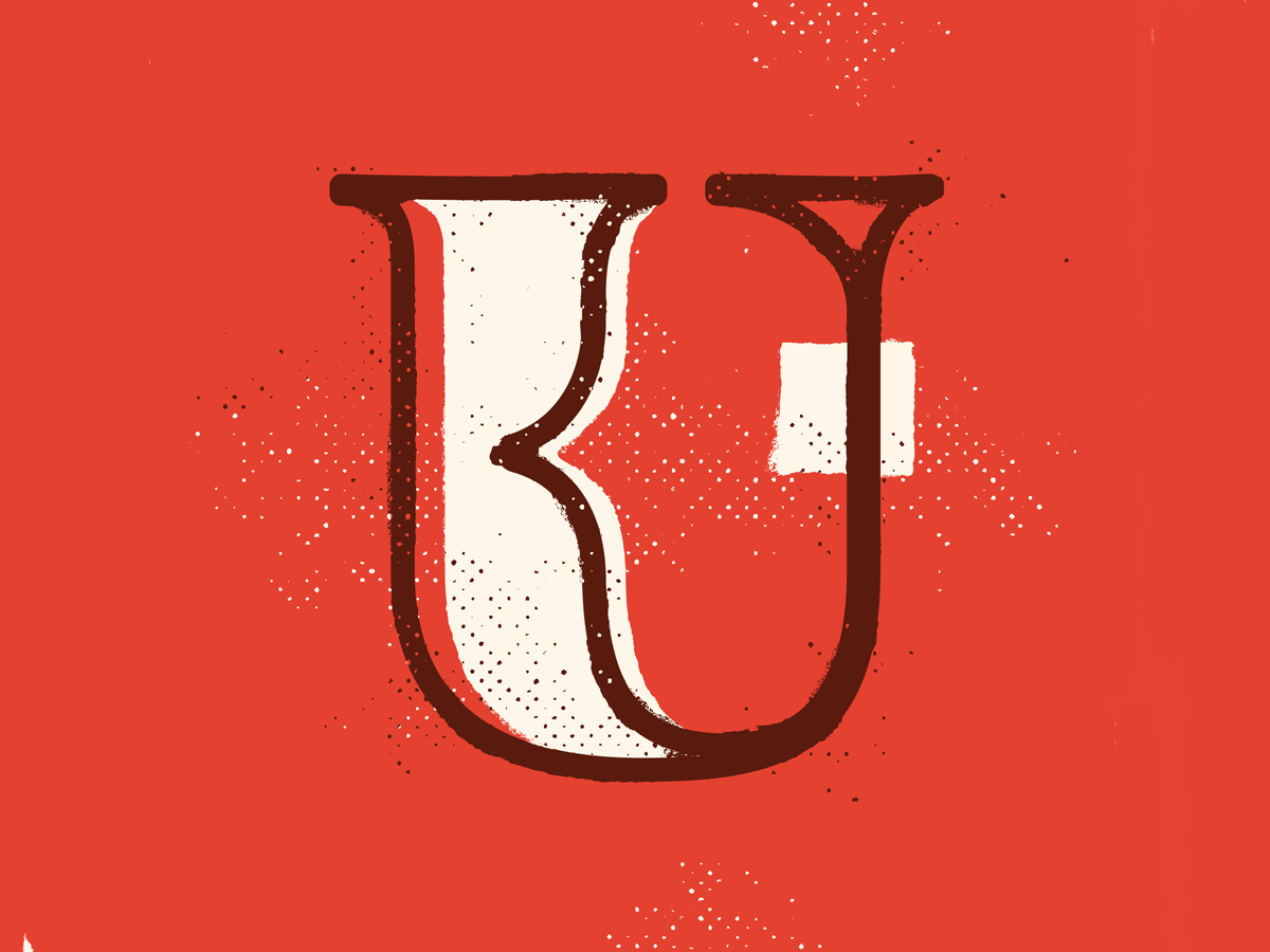 U 36 calligraphy 36days texture drop cap 36daysoftype illustration typography type lettering