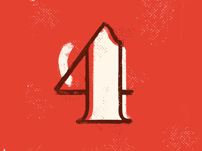 4 36 days of type calligraphy 36days texture drop cap 36daysoftype four illustration typography type lettering 4