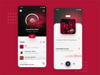 Music Player UI  🎧 🎵 minimal player play clean adobe music app sound visual music player ios app design productdesign uxdesign music app mobile uidesign ux ui design