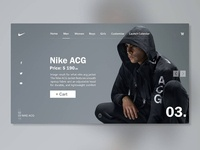 Web Design - Nike ACG