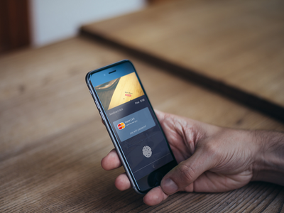 Payment with Touch ID ui ux graphic design