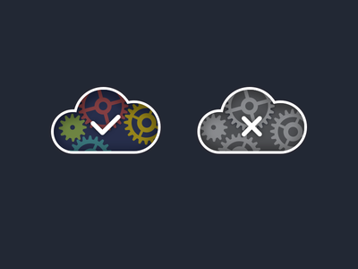 Status cog status cloud ui icon