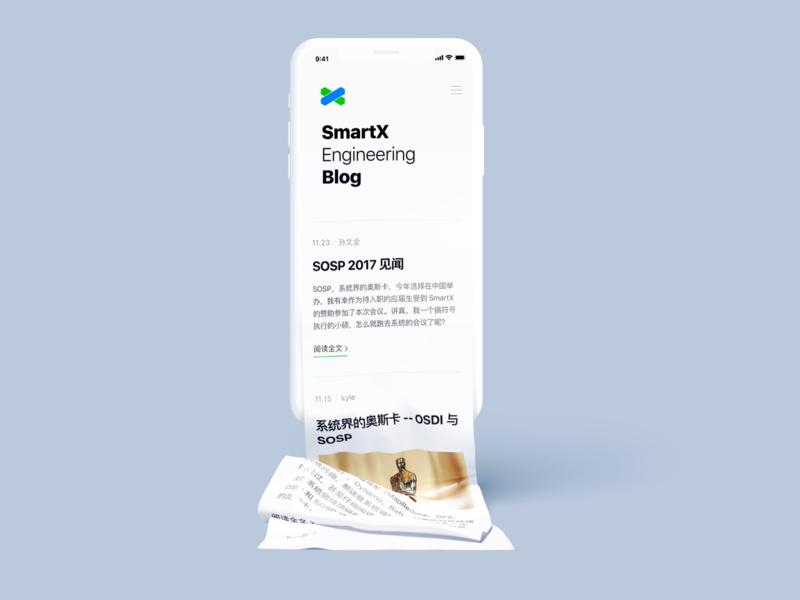 Responsive Design for SmartX Engineering Blog responsive blog ui ux app