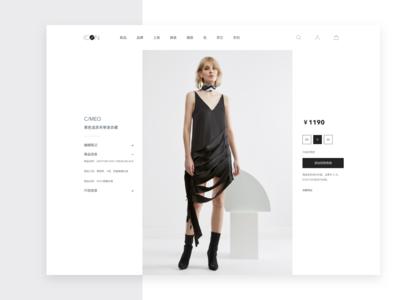 E-commerce website design for ICON