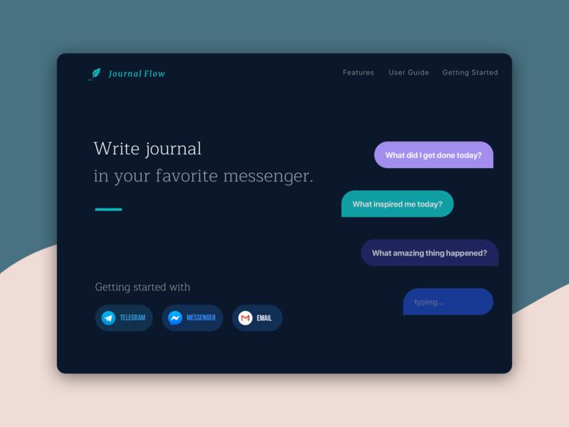 Meet our new product: JournalFlow web email messenger telegram design ux ui website journalflow diary journal