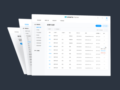 Screens from SmartX Partner Portal