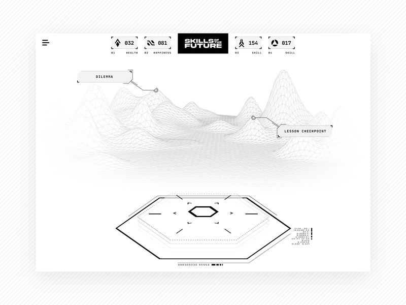 Futuristic Minimalistic Learning Experience user experience user experience design user interface user interface design minimal minimalistic gaming game web app elearning learning identity vector design web visual ux ui branding