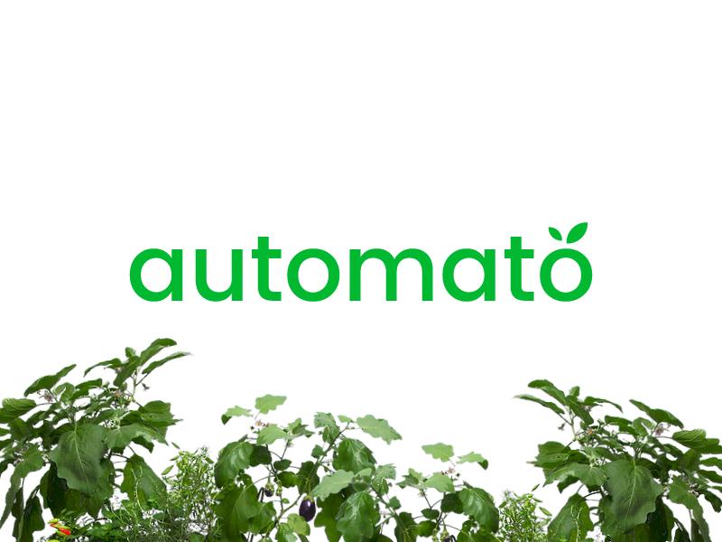 automato tomato id automate garden farm urban farming automato logo brand branding