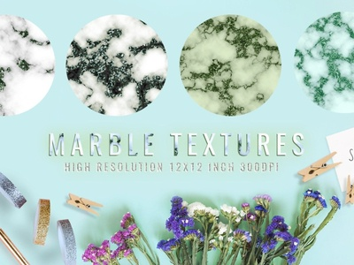 Marble photoshop textures digital paper
