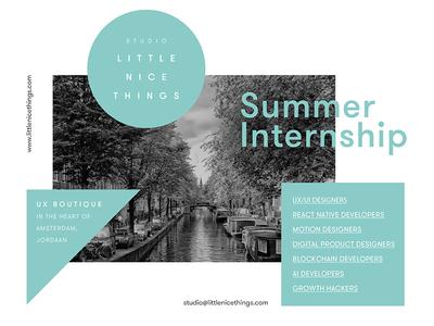 Summer Internship.