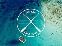 """Logo """"We are on a boat"""""""