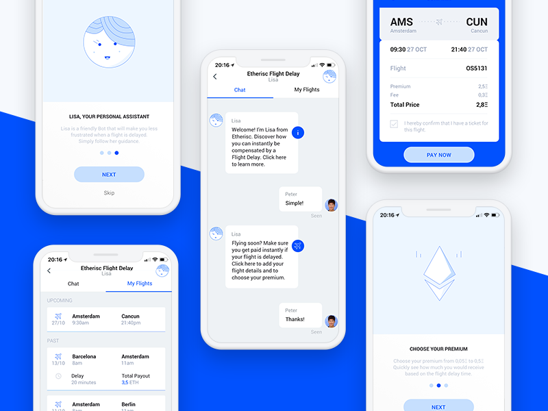Etherisc digitalproductdesign responsive mobile react ethereum decentralized dapps design blockchain