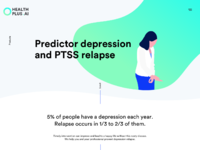 Products page predictor depression