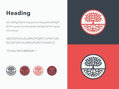 Tree logo branding mark logo mark icon avenir illustration tree root sermon series sermon