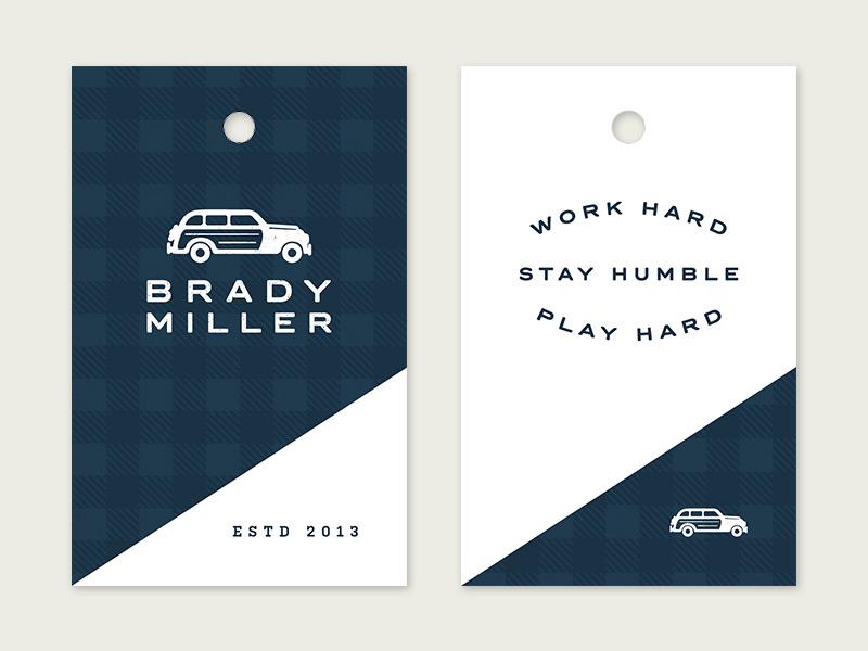 BM Hang Tag hang tag branding clothing shop sport logo typography car woody wagon