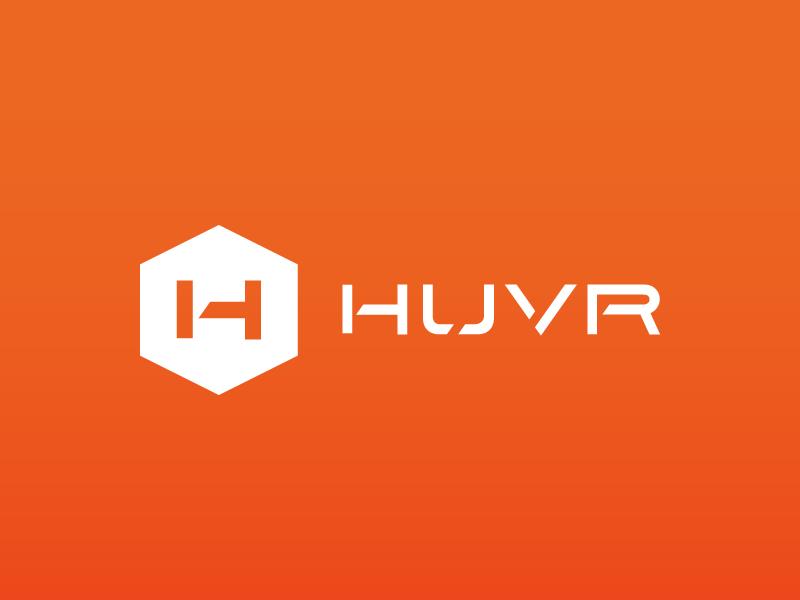HUVR Identity logo branding drone huvr identity style guide mark hexagon safety h