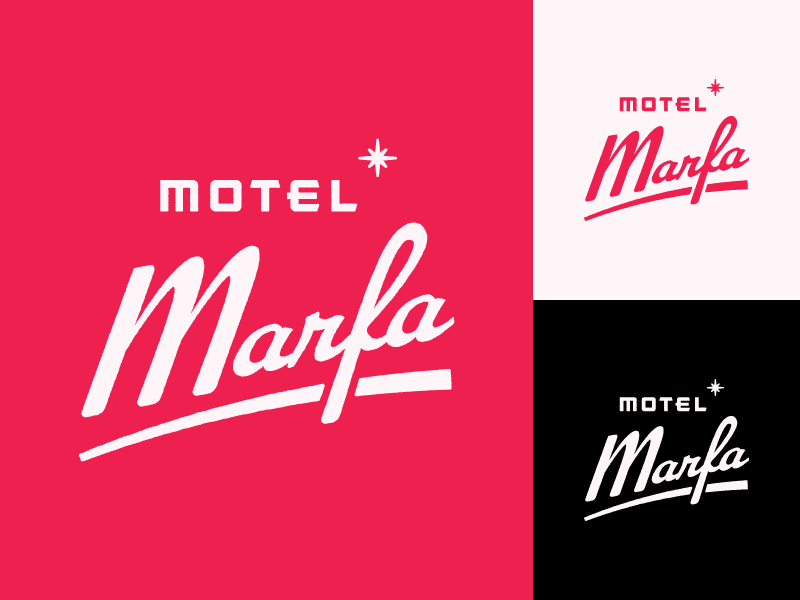 Motel marfa lettering