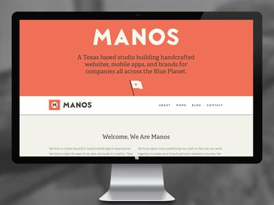 Manos Launch saw website web launch portfolio design illustration texas handmade hand crafted flag custom adelle brandon grotesque tools hammer responsive