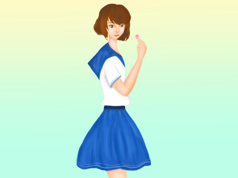 school girl manga manhwa photoshop artsy arts illustrations illustration art illustration drawingart artwork art painting paint ilustration digital painting digital illustration digitalart design