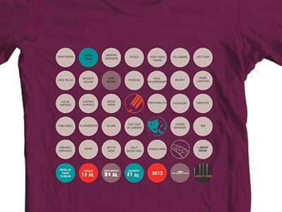 Longitude Festival Lineup Tshirt