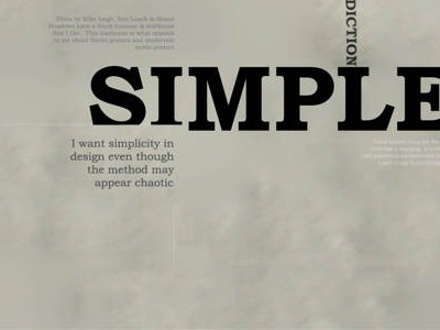 A2 Expressive Typography Poster