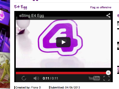 Esting On Channel 4 Website