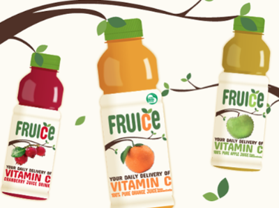 Fruice brand and packaging design