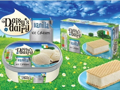 Daisy's Dairy Brand Identity and Packaging Redesign