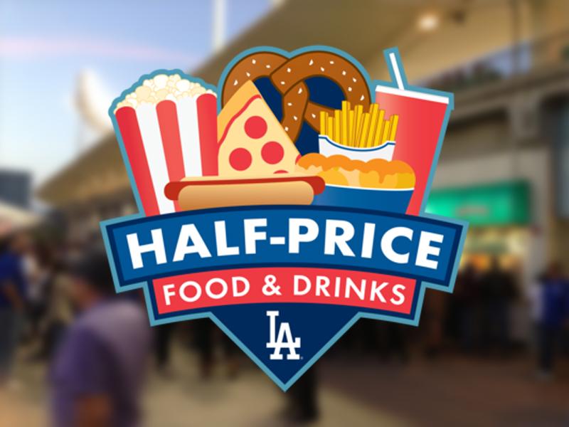 800x600 Half Price Food And Drink baseball dodgers logo mlb sports food concessions