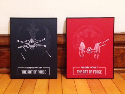 The Art of Force the force empire rebellion tie fighter x-wing screenprint culture of cult star wars