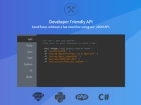 FAX API website