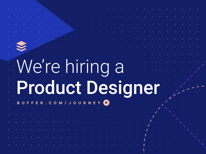 We're hiring a Product Designer – join us ✌️