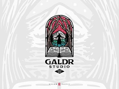 Galdr Studio dusan klepic branding logo game tools rpg developing studio gaming fantasy magic