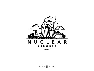 Nuclear Brewery dusan klepic branding logo power plant nuclear alcohol brewing brewery beer