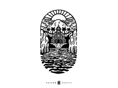 Church dusan klepic branding logo god island nature faith religion church