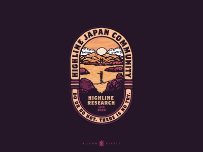 Highline Japan Community dusan klepic logo branding balance okayama highline adrenaline sport slackline japan