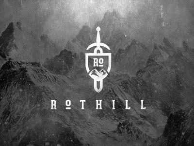 Rothill shield sword hill peak mountain rothill logo dusan klepic