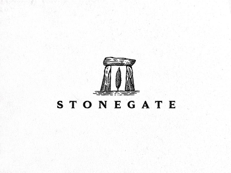 Stonegate lines linework dusan klepic safe home builder vintage tree gate stone