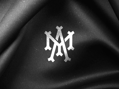 MA monogram 1 white black dusan klepic victorian modern branding handmade france vintage textile monogram ma