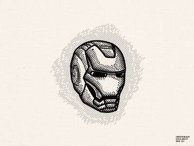 Ironman Helmet MK III dusan klepic hand drawn engraving superhero stark industries tony stark helmet marvelstudios marvel avengers ironman